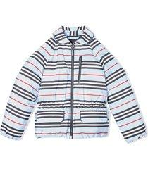 blue icon stripe jacket
