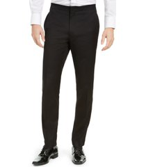 alfani men's slim-fit stretch black tuxedo pants, created for macy's
