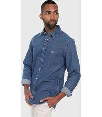 camisa azul denim lacoste