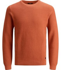 jack & jones 12187290 blastone trui mecca orange -