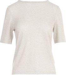 anneclaire lurex crew neck s/s t-shirt