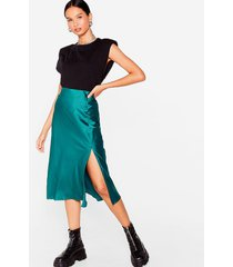 womens days of the sleek button-down midi skirt - emerald