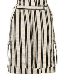 ann demeulemeester arion skirt - metallic