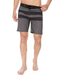pantaloneta negro-gris hurley