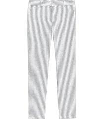 pantalón lino avery stripe celeste banana republic