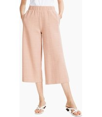 alfani textured relaxed-fit wide-leg pull-on pants, created for macy's