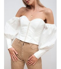 bluzka gorsetowa zapinana na guziki