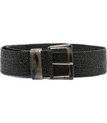 liu jo wide woven belt - black