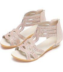 adorno de joyería de gladiador de oro sandalias