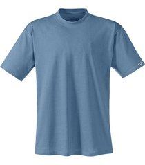 t-shirt met halflange mouw, staalblauw 6