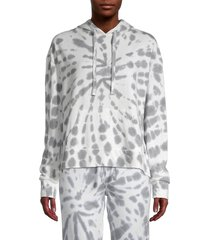 marc new york performance women's tie-dye boxy hoodie - overcast grey - size l