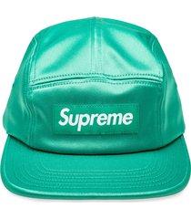 supreme camp logo cap - green