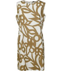 aspesi all-over printed sleeveless dress