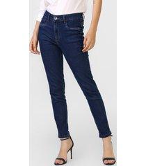 calça jeans my favorite thing(s) skinny pespontos azul-marinho - kanui