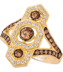 le vian chocolate deco diamond ring (1 ct. t.w.) in 14k gold