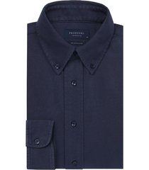 profuomo overhemd donkerblauw knitted
