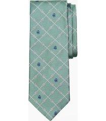 corbata nautical knots and fleece verde brooks brothers