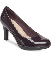 adriel viola shoes heels pumps classic röd clarks