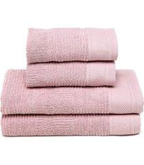 jogo de banho 4pçs buddemeyer oxford rosa