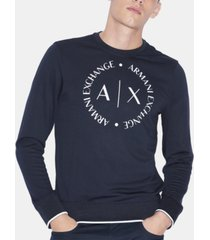 ax armani exchange men's circular logo sweater