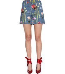 boutique moschino drill shorts