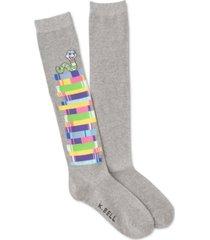 k. bell socks women's bookworm knee-high socks