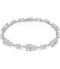 adriana orsini women's first kiss rhodium-plated & cubic zirconia bracelet