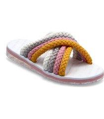 cross strap mule sandal shoes summer shoes flat sandals multi/mönstrad tommy hilfiger