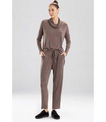 n-trance straight leg pants, women's, dark chestnut, size m, n natori