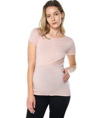 camiseta maternidad mng corta palo rosa moms closet,