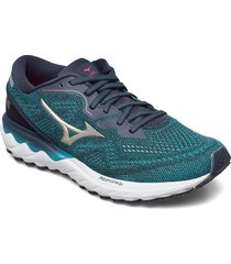 wave skyrise 2 shoes sport shoes running shoes grön mizuno