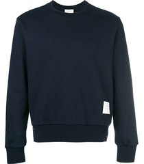thom browne center-back stripe jersey pullover - blue