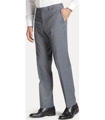tommy hilfiger men's regular fit suit pant in solid grey grey solid - 38/32