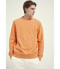 scotch & soda 161871 4213 orange melange felpa sweater crewneck -