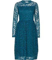 kavilli lace dress jurk knielengte blauw kaffe