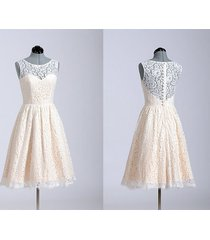 high neck sleeveless short lace bridal dress wedding dress/bridesmaid dress