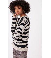 casaco jacquard tigre preto