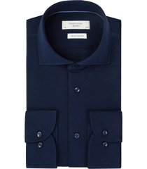 profuomo overhemd knitted pique mercerised navy