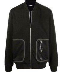 mesh-pocket bomber jacket