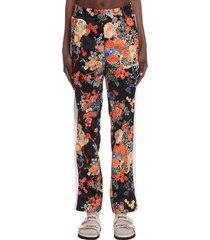 palm angels pants in black polyester