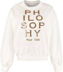 philosophy di lorenzo serafini logo detail cotton sweatshirt