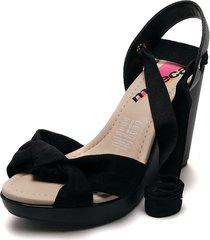 sandalia plataforma negro moleca