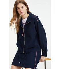 tommy hilfiger women's zigzag stitch hoodie sky captain - 14