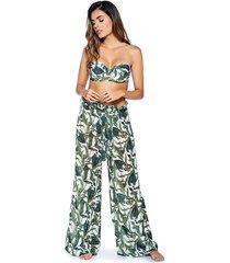 pantalon suelto estampado tropical kibys