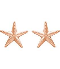 orecchini a lobo stella marina in argento rosato per donna