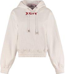gcds printed cotton sweatshirt