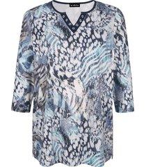shirt m. collection beige::blauw