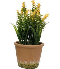 arranjo flores le com cachepot melamina 26cm