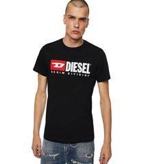 polera t diego division t shirt negro diesel