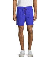 3-pocket drawstring swim shorts